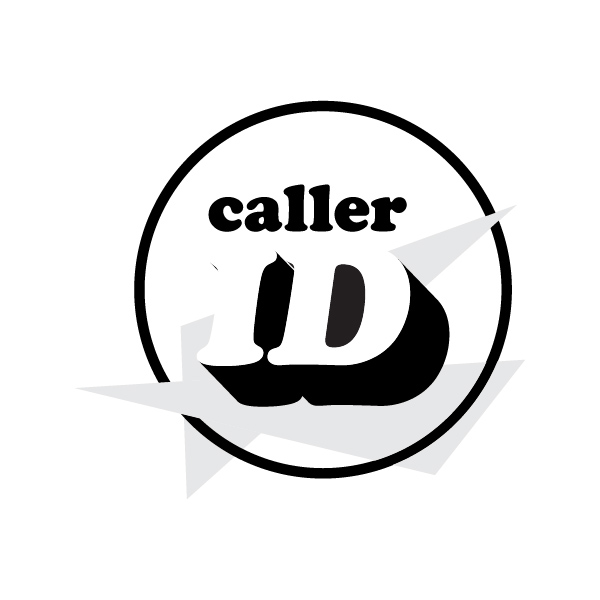 Caller Id band logo in grayscale